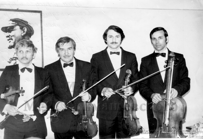 Слева направо: Л. А. Киршенбаум, С. П. Климашевский, Павел Багдасарян Н. А. Бедин